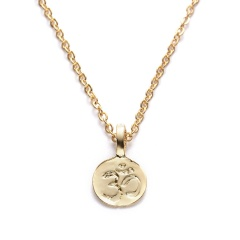 Women Gold Palm Pendant Necklace Clavicle Chain Choker Paper Card Jewelry Gifts Mind, body,and spiri