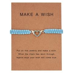 New Arrival Animal Charm Bracelets Blue Thread String Bracelet Owl Sea-star Fish Turtle Blue Bead Handmade Rope Bracelet Jewelry heart