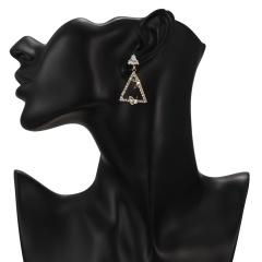 Simple Style Geometric Waterdrop Triangle Drop Earrings Butterfly Crystal Women Earrings Triangle