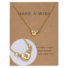 Paper card diamond long strip star pendant clavicle chain necklace NC18Y0493-G11