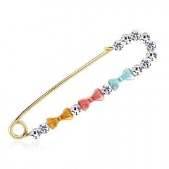 New Design Elegant Rhinestone Butterfly Flower Brooch Pins Female Romantic Crystal Brooch Hot Sale Women Wedding Party Jewelry #5