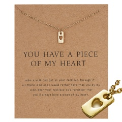 Gold Plated Moon Note Charms Pendant Chain Necklace Women Girls Jewelry Gifts You have my heart