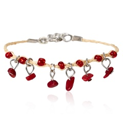 Natural Stone Bracelet Weave Colorful Stone Bracelets Handmade Boho Beads Bracelet Women Jewelry 7 Colors Bracelets Red