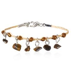 Natural Stone Bracelet Weave Colorful Stone Bracelets Handmade Boho Beads Bracelet Women Jewelry 7 Colors Bracelets Tiger Eye