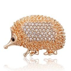 New Hot Vintage Fashion Animal Brooch Pin Koala Hedgehog Frog Pearl Crystal Animal Enamel Brooch Women Party Jewelry Accessories Hedgehog
