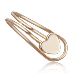 1PC Geometric Heart Round Pearl Ear Clip for Women Punk Jewelry heart