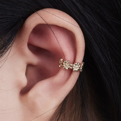 1PC Fashion U Shape Leaf Round Flower Ear Clip For Women Punk Jewelry Flower