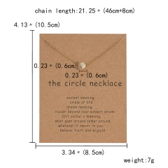 Simple Sun Leaf Wing Charms Pendant Chain Necklace Womens Fashion Jewellery Hot circle necklace