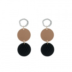 Geometric Circle Stud Earrings Circle