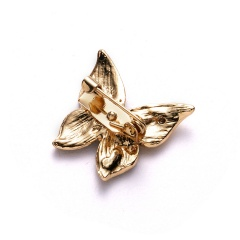 Rinhoo High Quality Classic Animals Fruits Brooches Rhinestone Flower Leaves Cute Animal Brooch Pins Lovers Summer Small Badge butterfly1