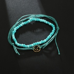 New Anklets Bohomian Infinite Beads For Women Fashion Pendent Multi Layer Anklet Cotton Handmade Chain Foot Jewelry Gifts Anklet 1