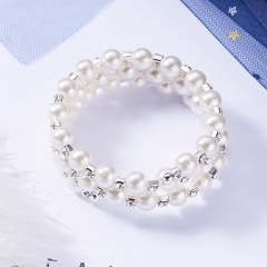 Rinhoo Hot Sale Rhinestone Pearls Adjustable Bracelets Couples Women Lovers Fashion Jewelry Lucky Gifts Nice Girls Bangles pearl bracelet