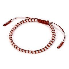 Handmade Knots Rope Budda Bracelet for Women Tibetan Buddhist Lucky Charm Tibetan Bracelets & Bangles For Women Men 6 Colors Red-brown mixed
