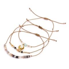 3pcs/set Leave Star Seashell Tassel Charm Beads Bracelets For Women Boho Multilayer Crystal Bead Bracelet Jewelry Party Gift pearl