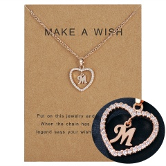 Womens Gold Plated Initial Alphabet Letter L-P Pendant Chain Necklaces M