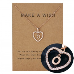 Womens Gold Plated Initial Alphabet Letter L-P Pendant Chain Necklaces O