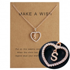 Fashion Womens Gold Plated Initial Alphabet Letter Q-U Pendant Chain Necklaces S