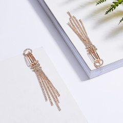 Geometric Crystal Zircon Drop Dangle Earrings Ear Stud Women Jewelry Rose Gold