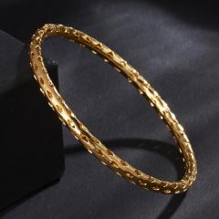 Rinhoo New Gold Color Bangles For Women Bangles & Bracelets Jewelry Bangles Gift Lady Girls Wedding hollow Bracelet gold