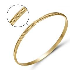 Rinhoo Wedding Jewelry Bracelet For Women Girls Bracelets Two Colors Carved Love Heart Wave Arrow Wheat Embossed Jewelry Gift gold ripple