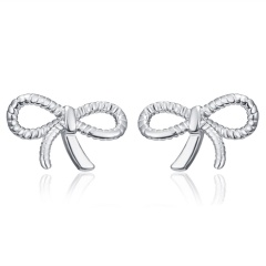 New Silver Snowflake Butterfly Animal Crown Ear Stud Earrings Wedding Party Gifts Bowknot