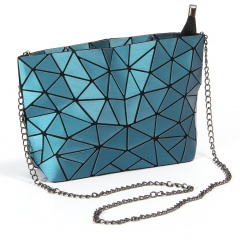 Geometric Ringer Bag Folding Chain Women's bag Shoulder Bag Crossbody Bag Drawing Small Bag 28*18*7cm Blue