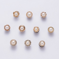 10pcs/set Pearl Brooch Pin White