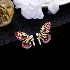 Fashion Crystal Butterfly purple