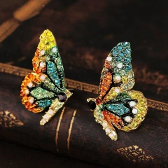 Fashion Crystal Butterfly green