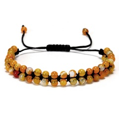 Fashion 7 Chakra Double layer Beaded Bracelet Natural Stone Diffuser Bracelets Amber