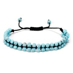 Crystal 7 Chakra Adjustable Bracelet Turquoise