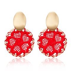 Charm Boho Geometric Dreamcatcher Stud Earrings Dangle Drop WomenJewellery Gift Red