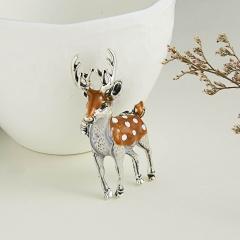 Fashion Elephant Sika Deer Bird Animal Brooch Pin Wedding Costume Christmas Gift Deer
