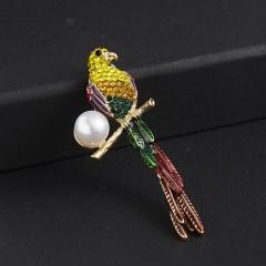 Fashion Elephant Sika Deer Bird Animal Brooch Pin Wedding Costume Christmas Gift Parrot