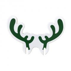 1 Piece Paper Christmas Festival Ornament Green Elk