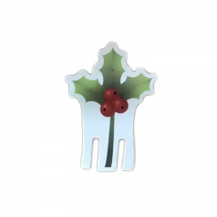1 Piece Paper Christmas Festival Ornament Leaf