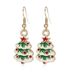 Lovely Women Christmas Shoes Tree Ear Stud Dangle Earrings Wedding Jewelry Gifts Tree