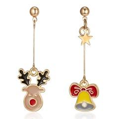 Lovely Women Christmas Shoes Tree Ear Stud Dangle Earrings Wedding Jewelry Gifts Deer Bell