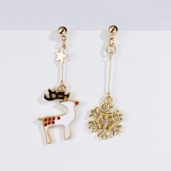 Lovely Women Christmas Shoes Tree Ear Stud Dangle Earrings Wedding Jewelry Gifts Deer Snow