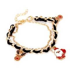 Santa Claus Bracelet Multi-layer Bangle Xmas Gift Santa Claus&Elk