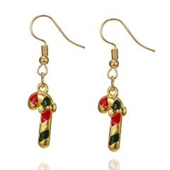 Christmas Tree Snowman Deer Bell Ear Stud Hook Earrings Xmas Party Jewelry Gift #4