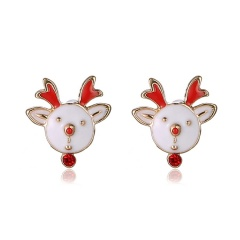 Fashion Christmas Style Stud Earring Small Cute Colorful Earring Jewelry Wholesale Elk