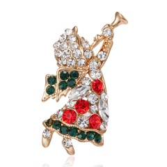 Christmas Little Angel Blowing Suona Rhinestone Christmas Brooch BC18Y0978