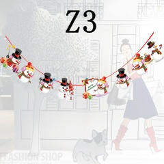 1PC Christmas Ceiling Decoration Ornaments Cartoon Hanging Pull Flag Z3