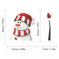 1 SET Christmas Series Wiper Sticker Car Rear Windshield Car Sticker Snowman