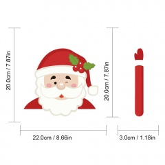 1 SET Christmas Series Wiper Sticker Car Rear Windshield Car Sticker Santa Claus