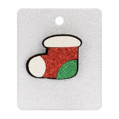 Rinhoo 1PC Christmas Tree Boot Gift Box Shape Felt Cloth Brooch With Cardboard For Women's Fashion Xmas Jewelry Gift Sock