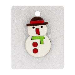 Rinhoo 1PC Christmas Tree Boot Gift Box Shape Felt Cloth Brooch With Cardboard For Women's Fashion Xmas Jewelry Gift Snowman