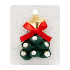 Merry Christmas Cute Snowman House Elk Antler Star Christmas Tree Hat Crutch Brooches for Kids Xmas Felt Cloth Pin Badges christmas tree