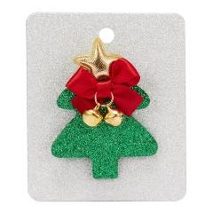 Merry Christmas Cute Snowman House Elk Antler Star Christmas Tree Hat Crutch Brooches for Kids Xmas Felt Cloth Pin Badges tree
